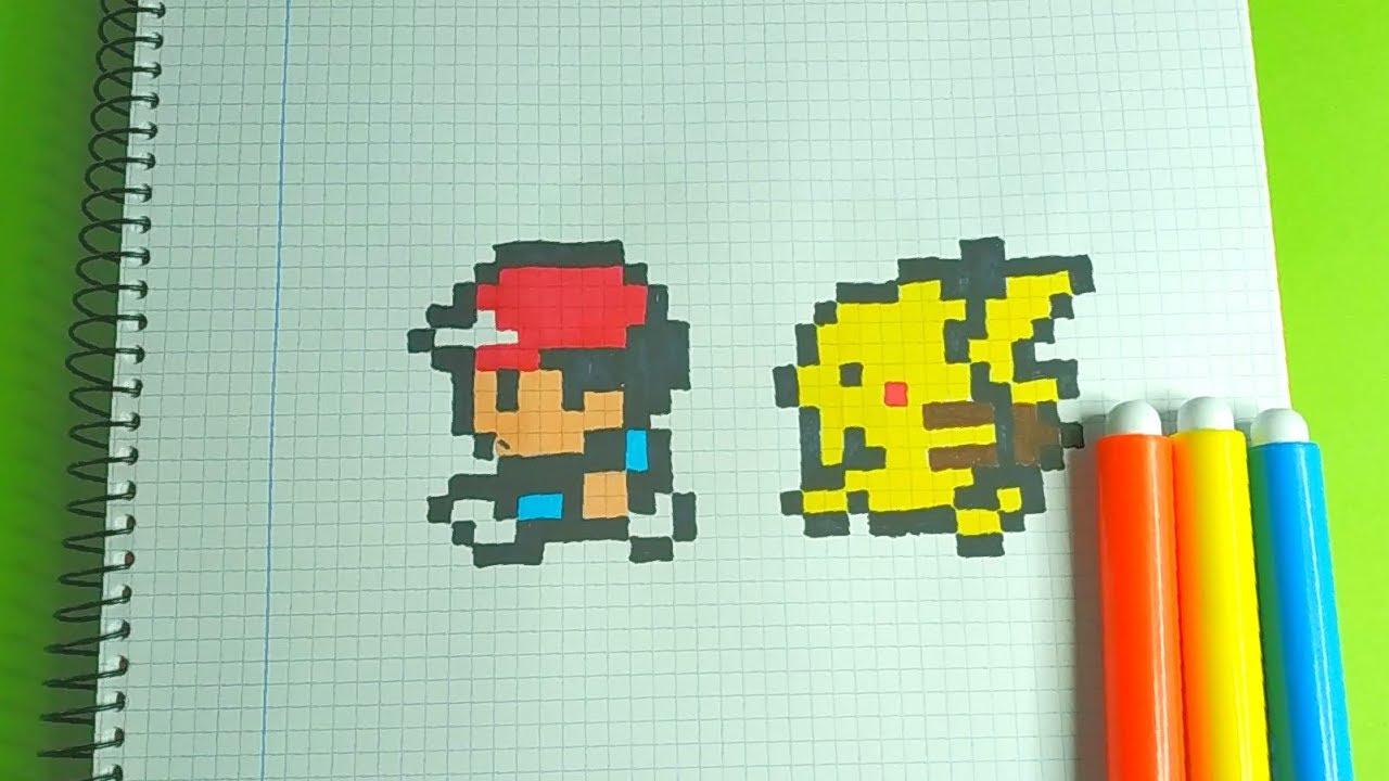 How To Draw Ash Pikachu Pokemon Pixel Art
