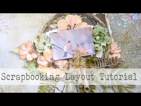 Scrapbooking Layout Process-- EASY STEP BY STEP TUTORIAL-- w