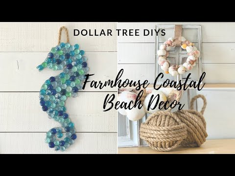 DOLLAR TREE DIY FARMHOUSE COASTAL BEACH DECOR