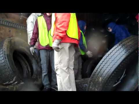French Broad River Academy Tire Cleanup Video 1