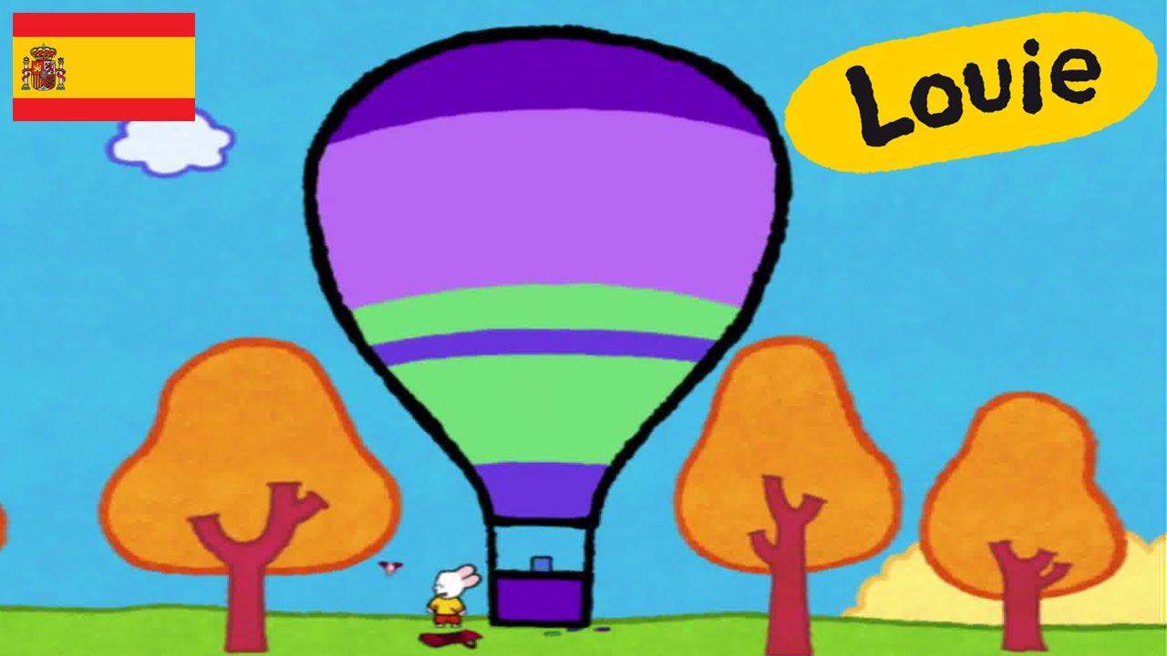 Globo Aerostático Louie Dibujame Un Globo Aerostático Dibujos Animados Para Niños