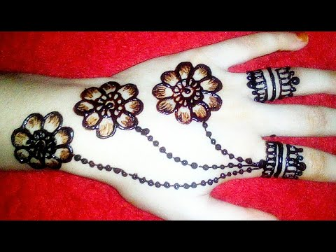 most-beautiful-and-simple-jewellery-henna-mehndi-design-for-back-hands-2019||eid-mehndi-designs