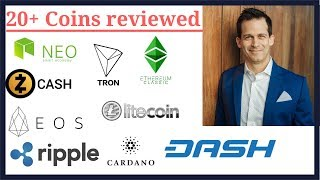 20+ cryptocurrency coins reviewed. EOS, ETC, LTC, XRP, BNB, VEN, ADA,  Dash, and more.