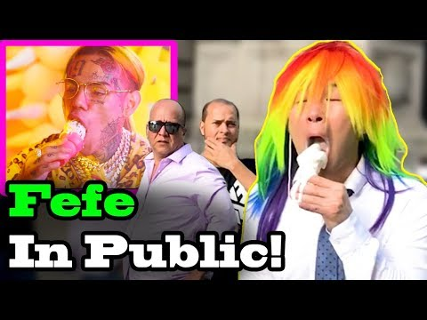 "6IX9INE (Tekashi69), Nicki Minaj - ""FEFE"" - SINGING IN PUBLIC!!"