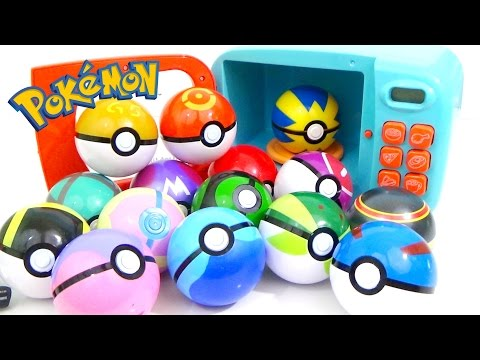 Learn Colors with POKEMON GO Play-Doh and MAGIC MICROWAVE Surprise Cooking Playset | Compilation