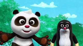 Кротик и Панда - Хвост ящерицы - серия 5 - развивающий мультфильм для детей