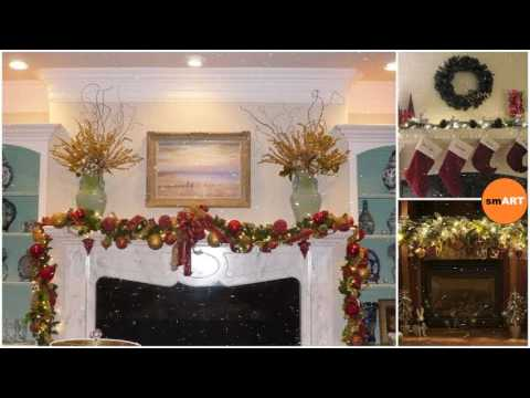 christmas mantel dcor gorgeous holiday mantel decorating ideas - Christmas Mantel Decorating Ideas
