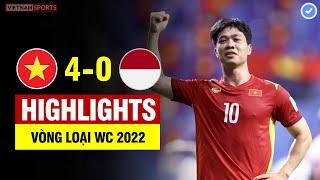 Highlights Việt Nam vs Indonesia   Quang Hải - Công Phượng tỏa sáng ngút trời - VN đại thắng Indo