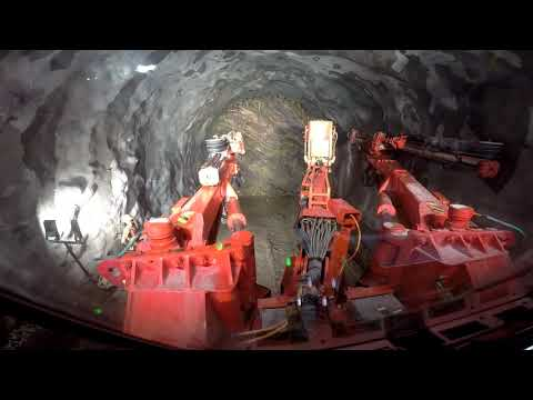 Sandvik DT922i Tunnelling Jumbo At Rail Vikas Nigam Ltd Site In Rishikesh, India