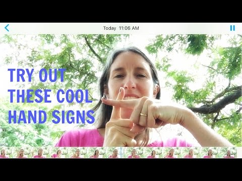 Chinese counting hand signs