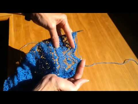 The YO, SSK Lace Edging - YouTube