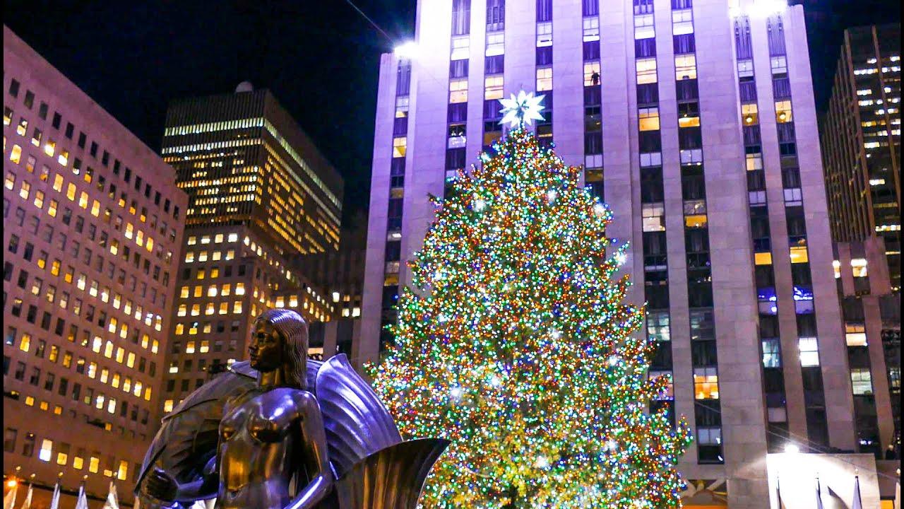 Lighting Of Christmas Tree In New York