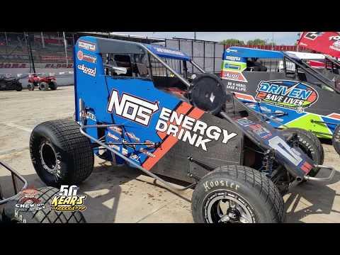 #17 Chris Windom - Midget - Hot laps and Qualifying at Eldora Speedway #4Crown 9-28-19
