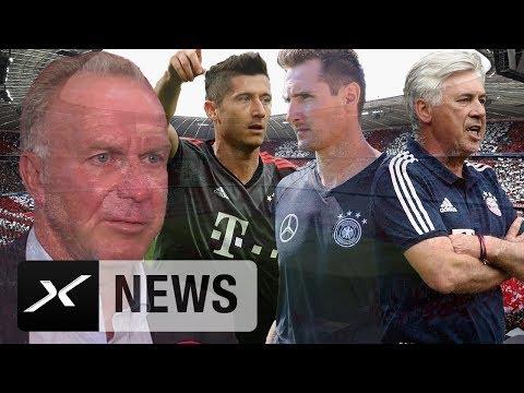 Karl-Heinz Rummenigge zu Robert Lewandowski, Miroslav Klose und Carlo Ancelotti | FC Bayern München