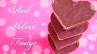Red Velvet Fudge Recipe : Collab With Caroline Artiss