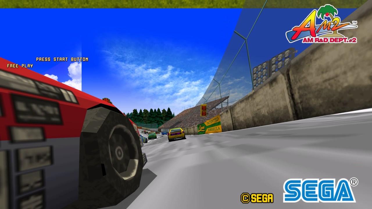 Sega Racing Classic in HD with PS3 audio Ringwide emulator teknoparrot 0 3