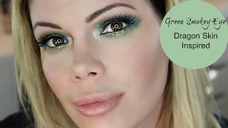 Electric Green Smokey Eye | Dragon Skin Inspired