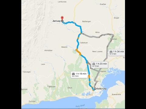 My Motorcycle Adventures Iloilo City To Janiuay Province - Iloilo city map