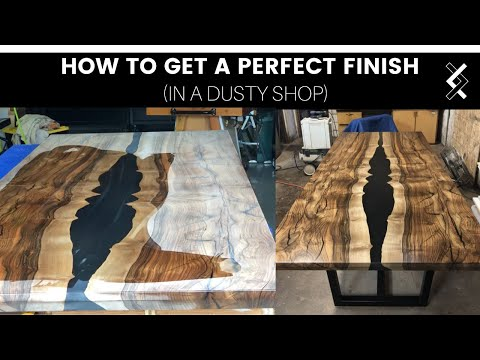 Perfect Table Finish (in a dusty garage)—Wood Table Finishing—How To Finish a Table