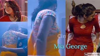 Mia George Saree Tribute in Malayalam Movie - CineBulk