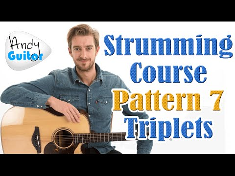 Beginners Strumming Pattern 7 - Triplet 'folk' style - Strumming Tutorial #10