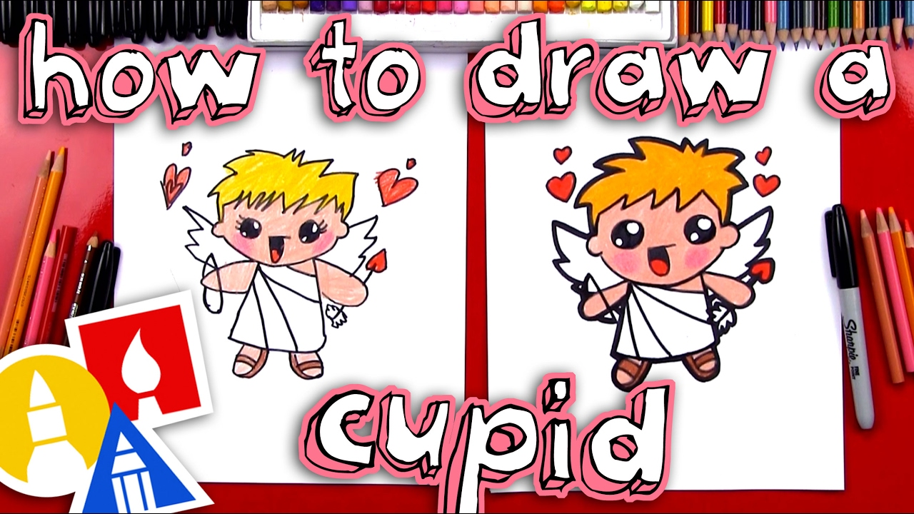 How To Draw A Valentine S Cupid Youtube