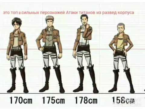 атака титанов все персонажи картинки