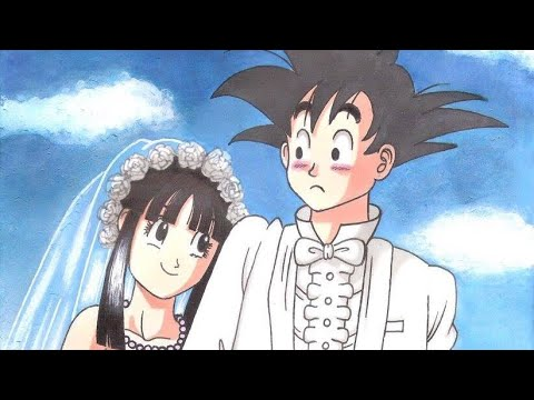 Drawing of Wedding of Goku and Chi-Chi (Size A4) - Dragon Ball ...