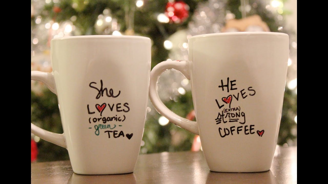 DIY Personalized mug Holiday Gift Idea C2C Day 6 YouTube