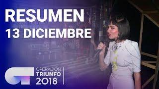 Resumen diario OT 2018   13 DICIEMBRE
