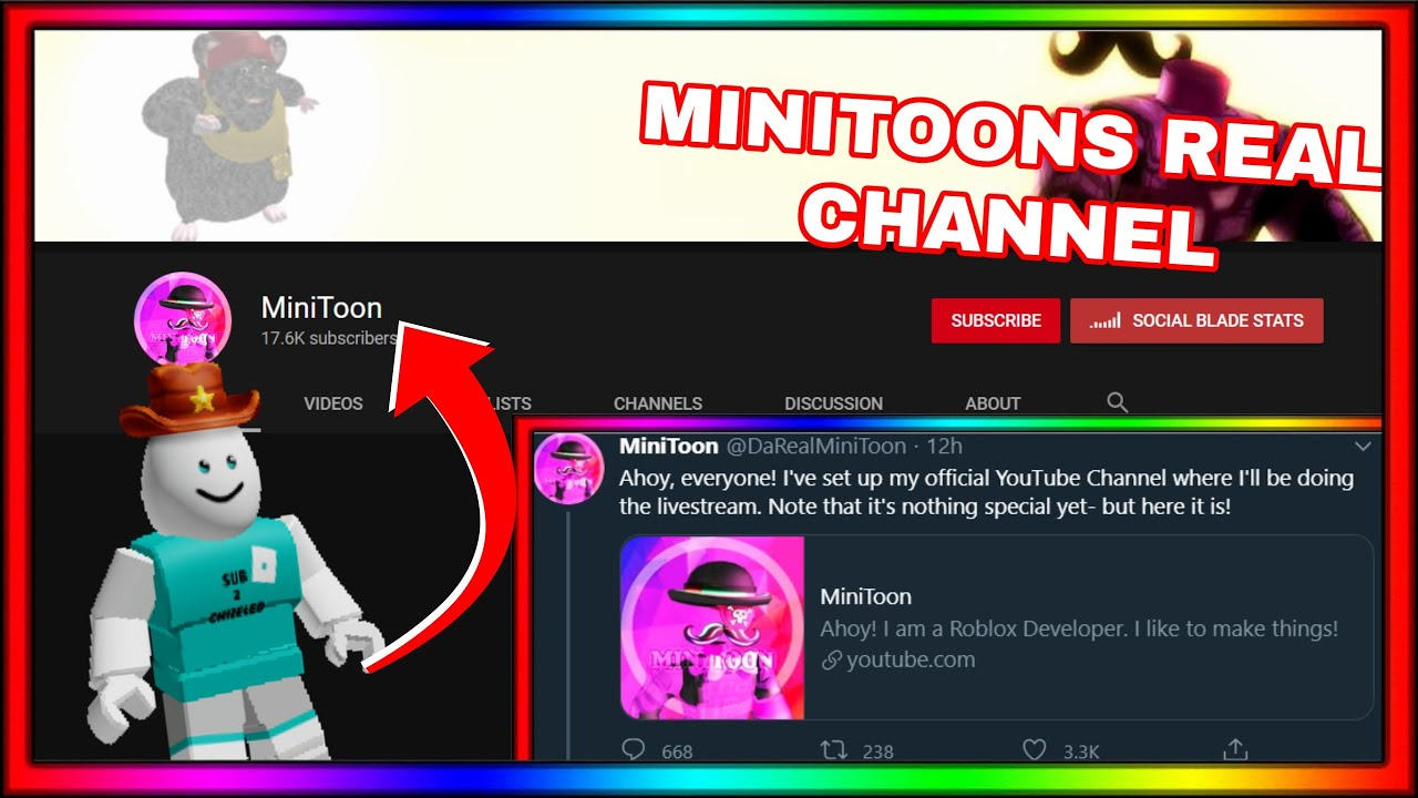 Minitoon Has A Real Youtube Channel Now Maker Of Roblox Piggy