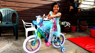 Frozen Girls 14 inch Bicycle Surprise Birthday Present for Kids | Bike assembly and play | Kids Ride
