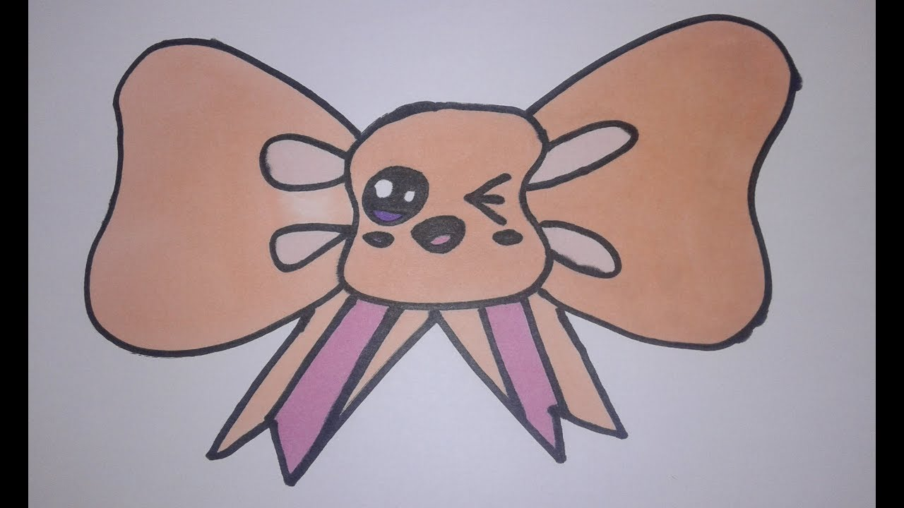 Comment dessiner un noeud papillon kawaii youtube - Dessiner un noeud ...