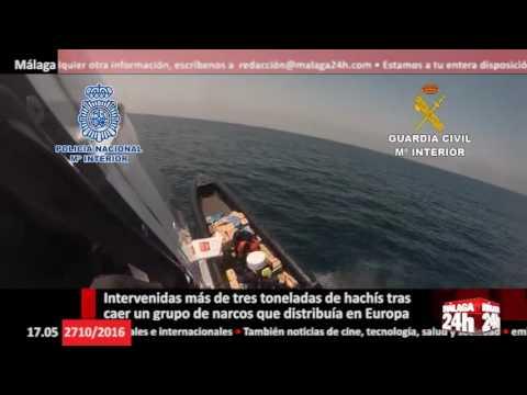 Málaga 24h TV - Intervenidas más de tres toneladas de hachís de narcos que distribuían en Europa