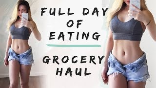 What I Eat In A Day | Grocery Haul | Work The Abs!