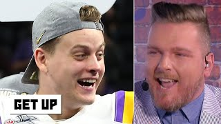 Pat McAfee loves Joe Burrow's swagger | Get Up