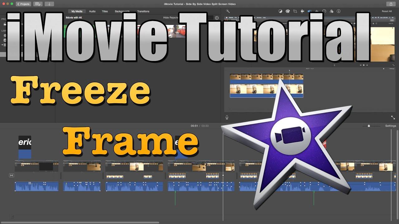 iMovie Tutorial 2016 - How to Freeze Frame - YouTube
