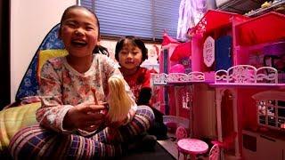2017/3月 【Y:5歳/R:7歳】 大谷さん大活躍 ☆バービー人形のプールのやつ...