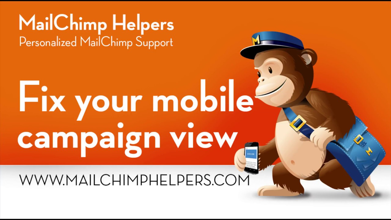 how to fix mobile view on mailchimp