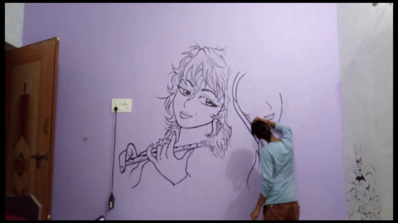 Wall Painting Radha N Krishna Created By Vansh Patel