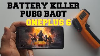 OnePlus 6 Battery killer test while gaming PUBG Mobile! BAGT Extreme 60 FPS SOT! Heating test