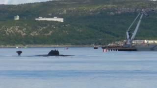 Крутое всплытие российской подлодки Surface of a Russian submarine Оружие России и мира!!!