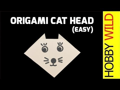 How To Make A Paper Cat Head Origami Easy Youtube