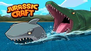 Jurassic Craft - HUNTING A GREAT WHITE SHARK! (Minecraft Dinosaurs)