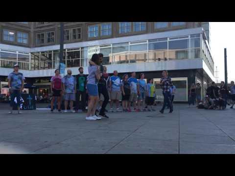 The Wall Drama - Alexander Platz in Berlin Germany