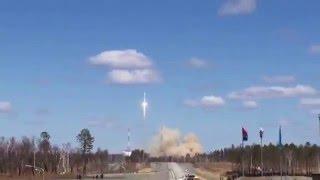 Запуск ракеты с космодрома Восточный