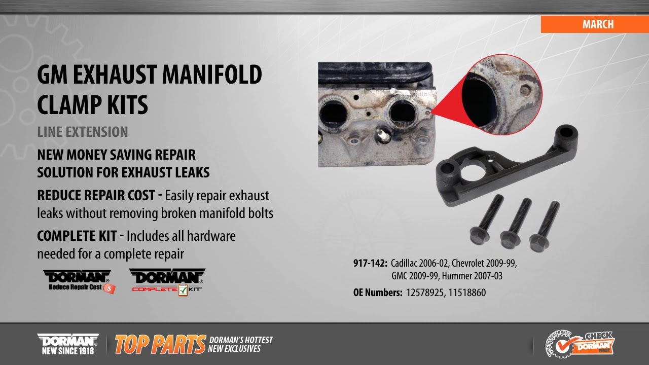 1999 2019 gm ls engine exhaust manifold clamp repair kit video dorman products 917 142