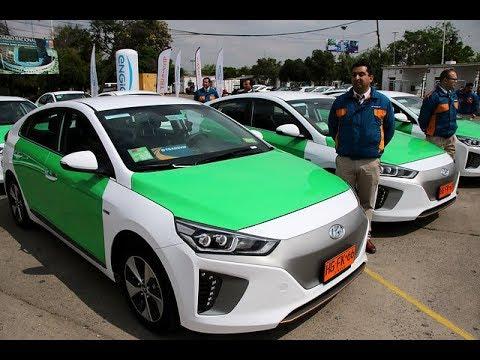 Presentan primera flota de taxis eléctricos en Santiago