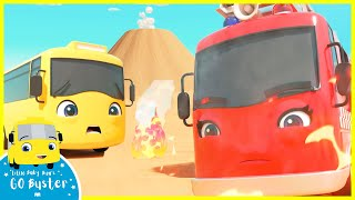 Beware of the Erupting Volcano!   Go Buster   Baby Cartoons   Kids Videos   Single   ABCs and 123s
