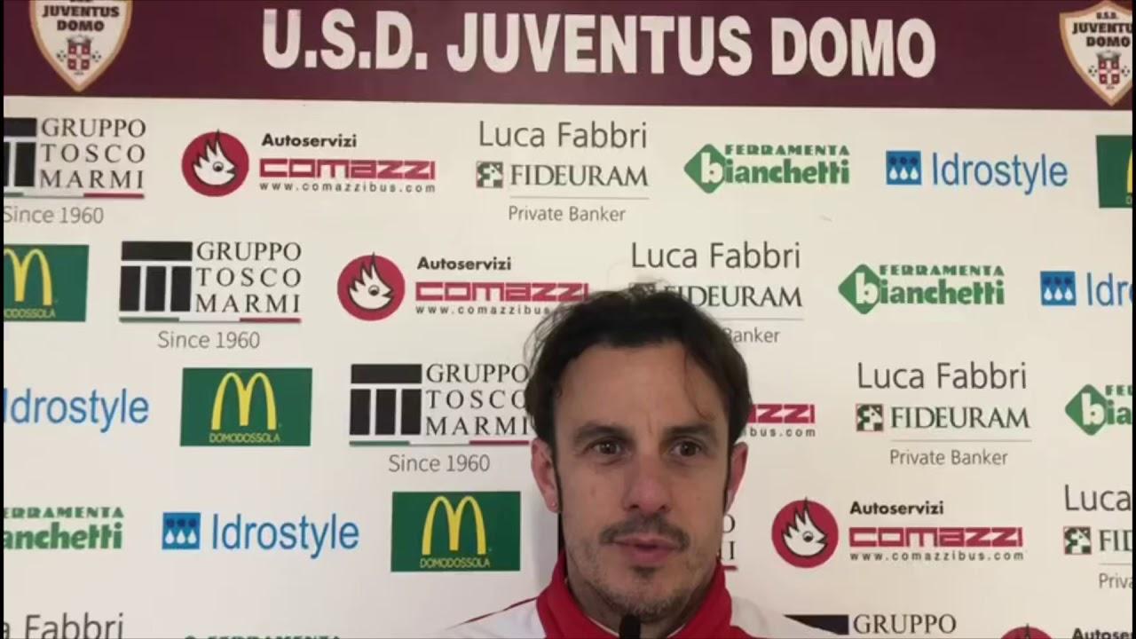 Mister Forzatti dopo vittoria Juve Domo con La Chivasso